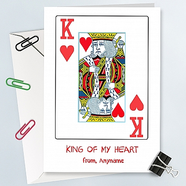 King of Heart-Personalised Card