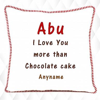 Love Abu - Personalised Cushion