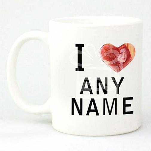 Photo I Love Mug - Personalised Mugs