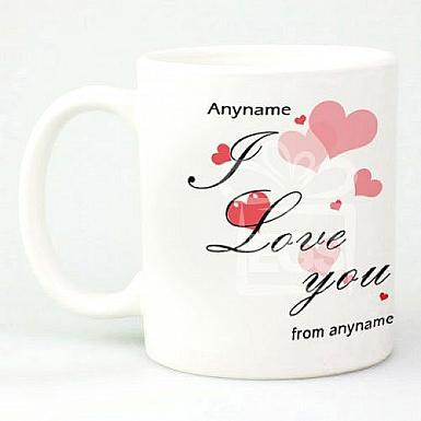 Love Hearts - Personalised Mug