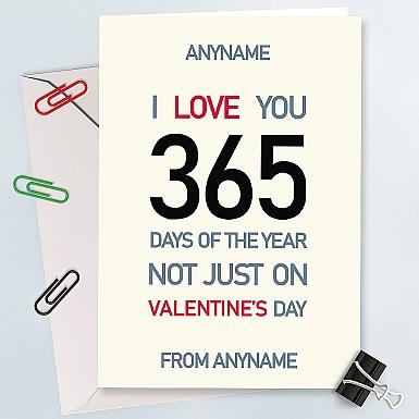 Love You 365 days-Valentine Card