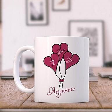 Heart balloons-Love You Mug