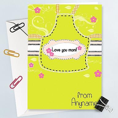 Love You Mum Card - Personalised Card