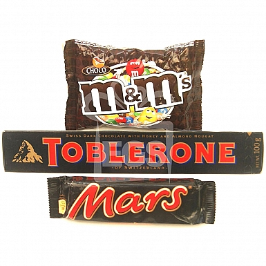 M&M Toblerone and Mars - 24 Bars