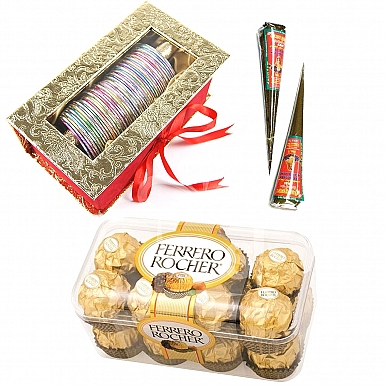 Bangles and Box of Ferrero Rochers