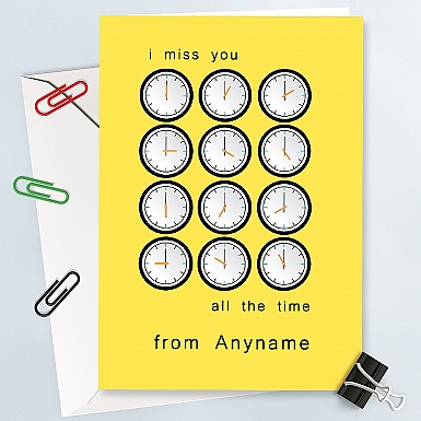 Miss You all the time-Personalised Card