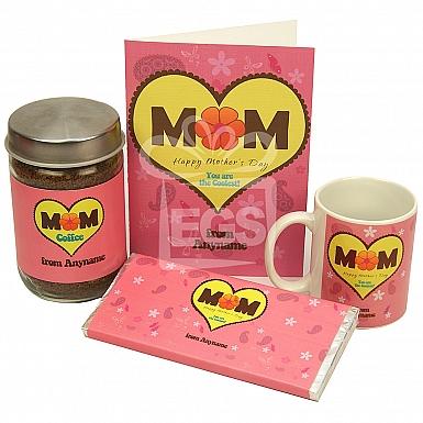 Coolest Mom Card + Jar + Mug + Chocolate