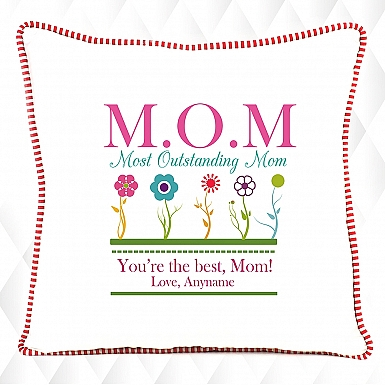Most Outstanding Mom- Personalised Cushion