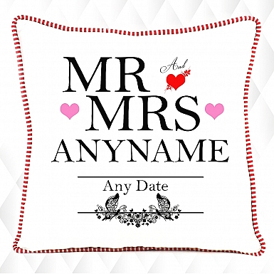 Mr and Mrs- Personalised Cushion