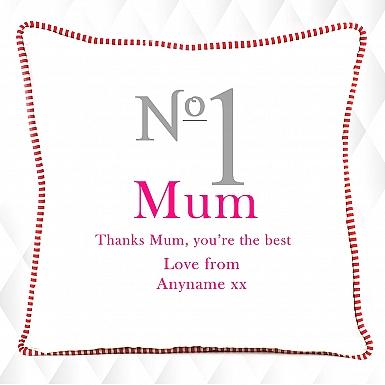 No.1 Mum - Personalised Cushion