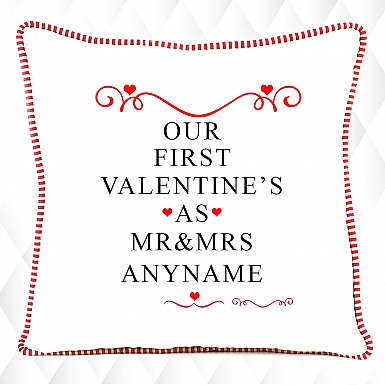 Our first Valentine-Personalised Cushion