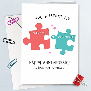 Perfect Fit Anniversary Card