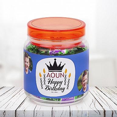Personalised Birthday Photo Jar for Boys