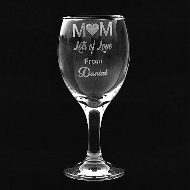 Personalised Engraved Glass for Mum
