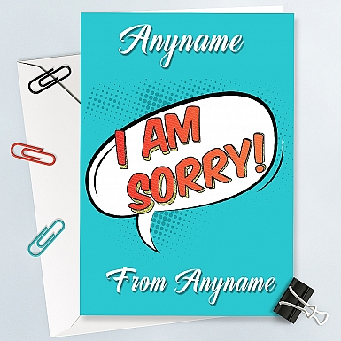 Comic Style Personalised Sorry Card