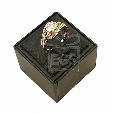 Elegant Gold Plated Zircon Ring