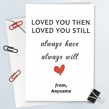 Still Love You-Valentines Card