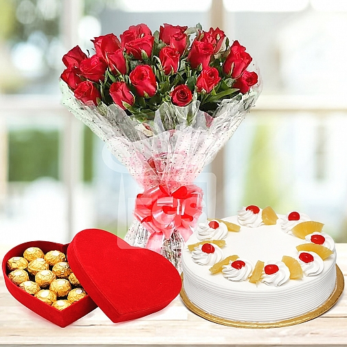 Trio Rose Gift
