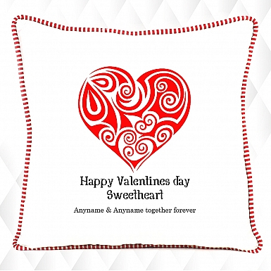 Valentines Day Sweetheart-Personalised Cushion