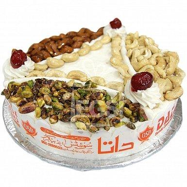 2Lbs Dry Fruit Butter Cream Cake - Data Bakers