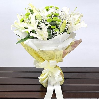 3 Stems Of White Lily