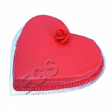 3Lbs Heart Shape Cake - Tehzeeb Bakers