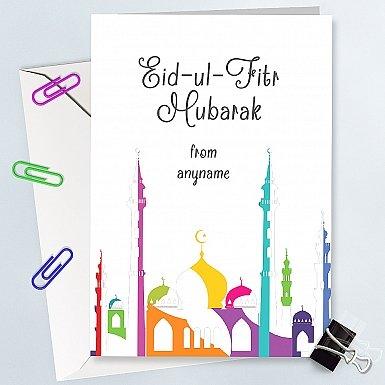Eid ul Fitr Mubarak - Personalised Card