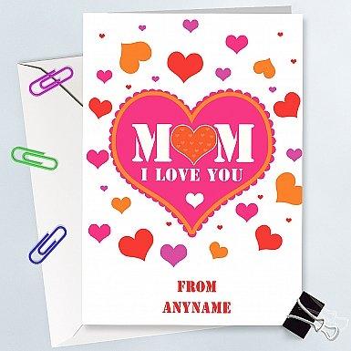 Mum-Hearts-Personalised-Card