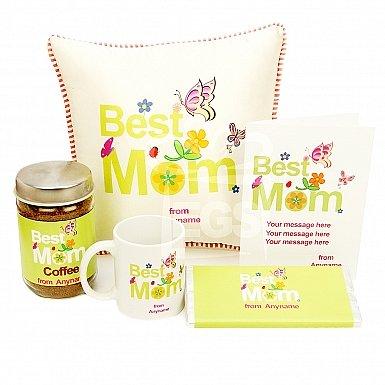 Best Mom Card+Coffee Jar+Mug+Chocolate+Cushion