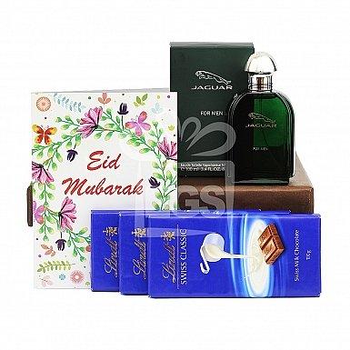 Chocolate and Perfume Eid Hamper for Him