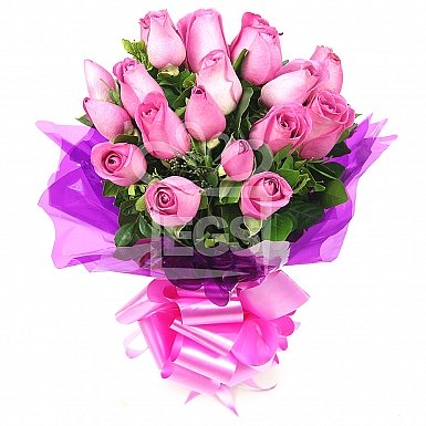 12 Imported Pink Roses