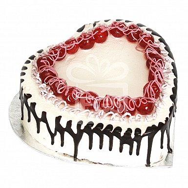 2Lbs Heart Shaped Italian Black Forest Cake - Falettis Hotel