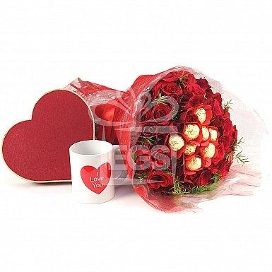 Romantic Roses & Chocolates Treat