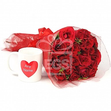 Dreamy Red Roses Bunch