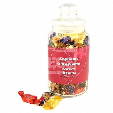 Sweet Hearts-Personalised Candies Jar
