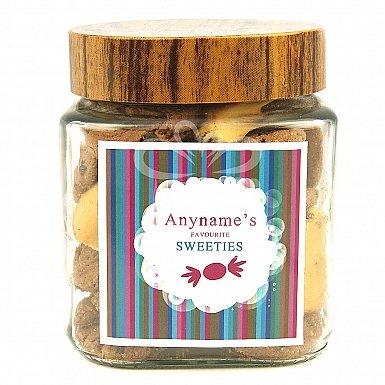 Personalised Cookies Jar-Favourite Sweets