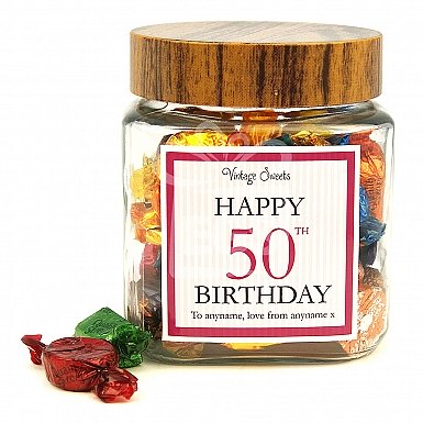 Happy Birthday Personalised Label Jar