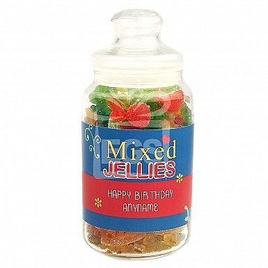 Personalised Assorted Jellies Jar