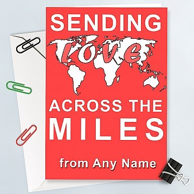 Across The Miles -Personalised Card