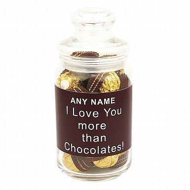 Love You More Than Chocolates-Ferrero Rocher Jar