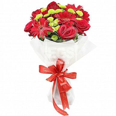 Gerberas With Roses