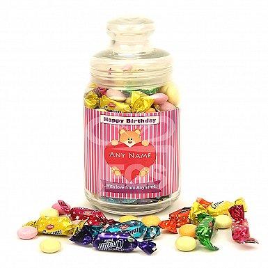 Happy Birthday Assorted Candy Jar - Personalised Jar