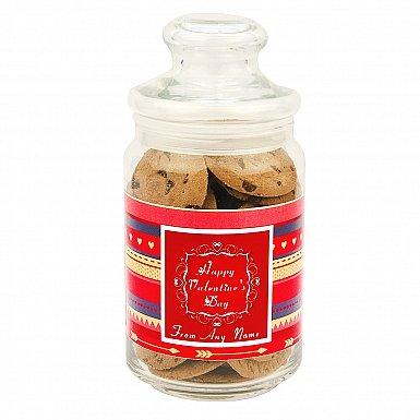 Happy Valentines-Chocolate Chip Cookies Jar