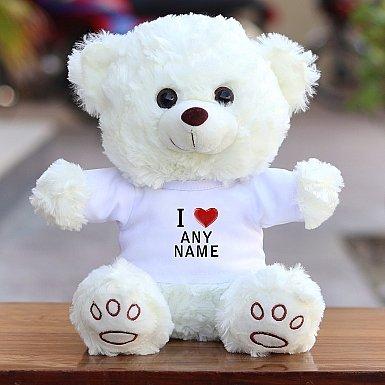 I Love Name-Valentines Teddy Bear