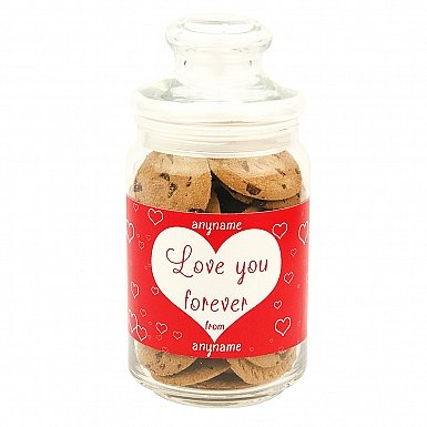 Love You Forever-Chocolate Chip Cookies Jar