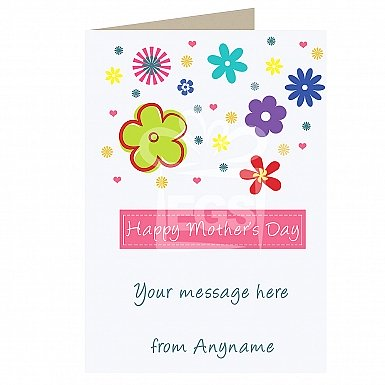 Mothers Day Flowers-Personalised Card