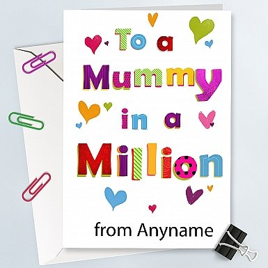Mummy in a Million-Personalised card