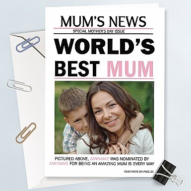 Mum's News-Personalised Photo Card