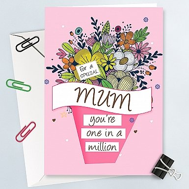 One in a million Mum-Greeting Card