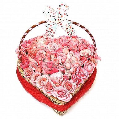 Pretty Pink Heart Basket